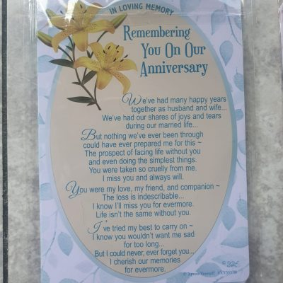 On Our Anniversary Graveside Card
