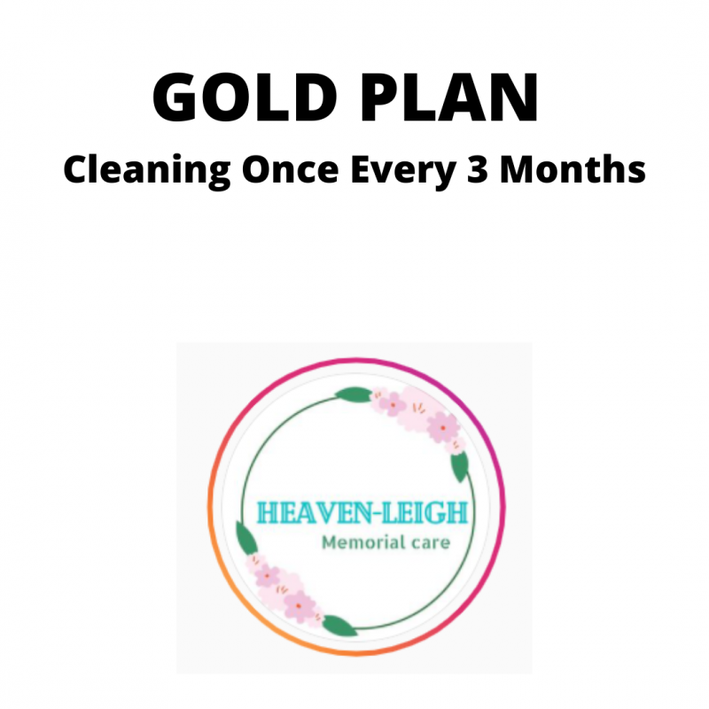 Gravesite Cleaning Every 3 Months - Regular