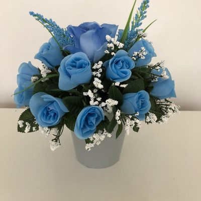 Made to order blue flowers bouquet